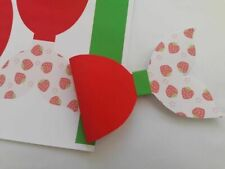 4 strawberry (mermaid tail) bow fabric ready to cut hair bow making canvas sheet