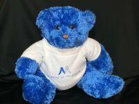 "RARE Authentic Plush MUSEUM OF TOLERANCE Blue Teddy Bear 9"" Plush Stuffed Animal"