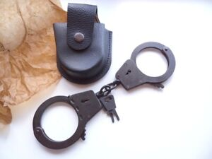 Handcuffs BRS-2, new, made in Russia, + 2 keys, + new leather case, #2