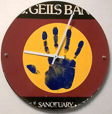 "J. Geils Sanctuary cover Album Clock 11.5"" round battery operated"
