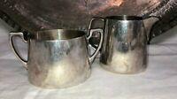 BSL SilverPlate English Creamer & Sugar Bowl~Sugar-W90601, Creamer-W90601