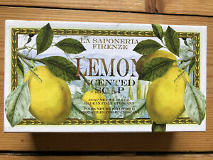 'La Saponeria Firenze' Lemon Scented Soap 300g - Made in Tuscany New in Gift Box