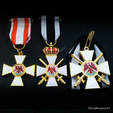 Order of the Red Eagle Medal SET 1 2 3rd Class WW1 German Prussian Medals Repro