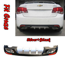 ABS Rear Bumper Dual Diffuser spoiler Fit Chevy Cruze (2009~2014) With Reflector
