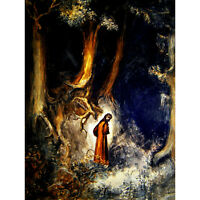 PAINTING BOOK DIVINE COMEDY DORE DANTE DARK FOREST HELL ART PRINT POSTER HP1506