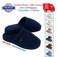 Luxury ON-AIR Terry Towel Slippers Men Women Unisex Spa Hotel Turkish Cotton