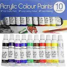 10X 6ml ACRYLIC COLOUR PAINTS ARTIST ART AND CRAFT PAINT SET