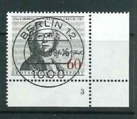 Mi-Nr. 1343 zentrisch Berlin Vollstempel - Bogenecke / Ecke 4 FN - Formnummer 3
