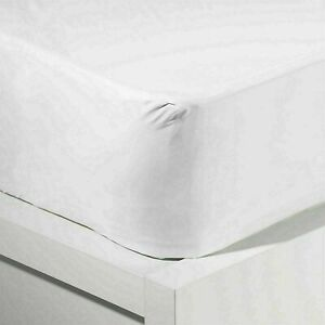 New Waterproof Mattress Protector Cover Fitted Sheet Bed Cover Vinyl Plastic UK