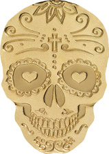 Palau $1 Catrina Skull 0,5 grams Silk Finish Gold Coin