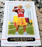 AARON RODGERS 2010 Topps Reprint 2005 Rookie Card RC Packers HOT Superbowl MVP