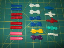 vtg Goody? barrettes lot 19 plastic stay snap tight 80's kids flowers cat bear