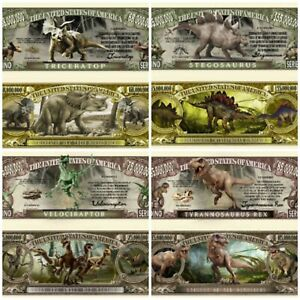PREHISTORIC DINOSAURS DINO SERIES LOT of (4) NOVELTY NOTES EDUCATIONAL US SELLER