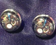 Harry Potter Inspired Steampuck Glass Cabochon Stud Earrings