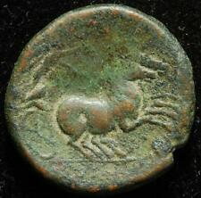 Ancient Greek AE22 Syracuse, Sicily, r. Nike in biga, after 212BC