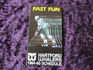1984-85 Hartford Whalers Hockey Schedule - Sylvain Turgeon Cover