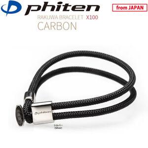 PHITEN Golf Japan RAKUWA BRACELET X100 Silver Carbon Graphite Titanium 2021c