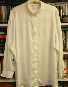 H&M Ivory Silky Shirt Size XXL Oversized WORN ONCE VG CLEAN CONDITION100%RATING
