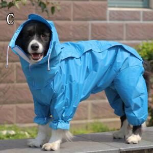 Waterproof Dog Pet Hooded Coat Jacket Vest Raincoat Clothes Dog Coat Puppy Suit