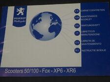 PEUGEOT FOX XP6 XR6 50cc 100cc MAINTENANCE BOOKLET INSTRUCTIEBOEK