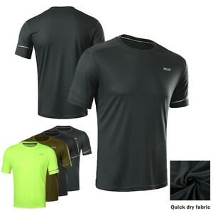 Mens Running Sports Gym Top jersey Breathable Sweat Free S M L XL XXL T-Shirt