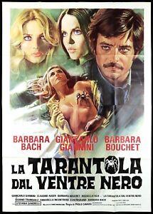 LA TARANTOLA DAL VENTRE NERO MANIFESTO ENNIO MORRICONE 1971 RARE MOVIE POSTER 4F