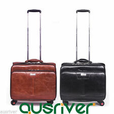 Leather Laptop Friendly Travel Suitcases