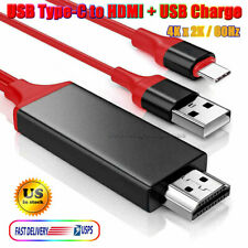 USB-C Type-C to HDMI HDTV Adapter Cable 4K 60Hz For Samsung S20 S10 S9 S8 Note10
