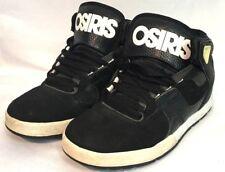 OSIRIS L2 BLACK WHITE HIGH TOP SKATE SHOES MEN'S SIZE 6 PRE-OWNED