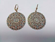 La Vie Parisienne by Catherine Popesco Lrg Lacy Pacific Opal & Gld Round Earring