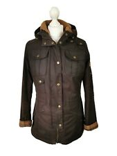 LADIES BARBOUR WINTER FORCE RUSTIC BROWN WAX PARKA COAT JACKET, UK 10