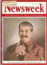 NEWSWEEK  Hitler Stalin   June 22 1942