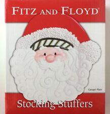 Fitz and Floyd Christmas Santa Stocking Stuffers Canape Plate Euc Box Holiday