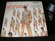 1959 50,000,000 ELVIS Presley Fans Can't Be Wrong LP Rechanneled Ster Orig CLEAN