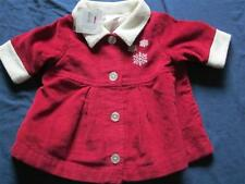 Hanna Andersson Coat Dress 0 3 MO 50 CM Little Red Girl Christmas Holiday NWT