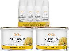 GiGi 2x 14oz 0330 ALL PURPOSE HONEE WAX Pre epilation oil Wax Off Slow Grow