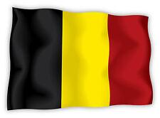 Belgio Belgium Belgian Belgique bandiera etichetta flag sticker 15cm x 11cm
