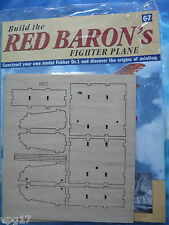 BUILD THE RED BARON'S FIGHTER PLANE FOKKER DR1  HACHETTE  ISSUE 67  NEW SEALED