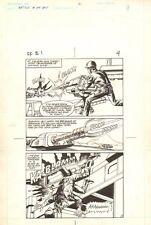 Flash Force 2000 #1 p.4 Gun Turret Action - Matchbox Car 1983 art by Sal Trapani Comic Art