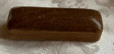 Vintage coffin style leather jewelry case, brown, Hyman, Berg & Co. Chicago