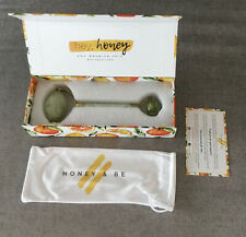 Honey & Be Natural Jade Facial Massage Roller Face Eye Neck Body Beauty Tool