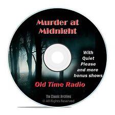 Murder at Midnight, 481 Thriller Horror, Old Time Radio Shows, OTR, DVD CD G08