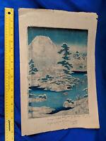 Hiroshige II/Utagawa Kunisada Signed Woodblock Print Japanese Tale View of Genji