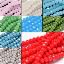 Strang Facett Glas Schliff Perle rund 6 mm 50 Stück Farbwahl Auswahl 2445