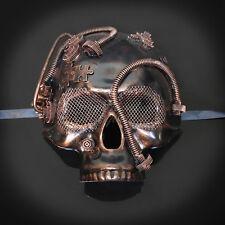 Steampunk Skull Costume Theater Masquerade Mask for Men - Metallic Copper