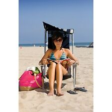 Camping Folding Chair For Adult Beach With Canopy Shade Portable Lounge Recliner