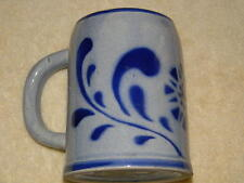 """West Germany- stoneware mug- ceramic, blue colors, height approx. 4.8"""",beautiful"""