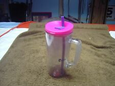 bubba 32 oz Insulated  plastic water mug with straw used