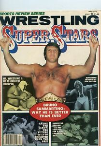 Sports Review Series Wrestling Fitness Magazine Super Stars July 1977 Bruno S
