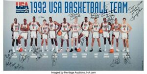 1992 DREAM TEAM BASKETBALL OLYMPIC Poster 19 x 36 inch 2
